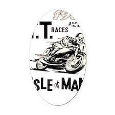 isle of man tt races (1961) Oval Car Magnet