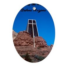 Chapel of the Holy Cross Sedona Ariz Oval Ornament