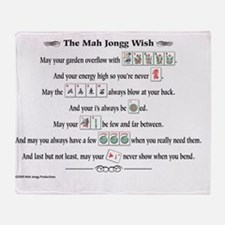 MahJonggWishForPrint 1 Throw Blanket