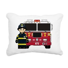 Fireman Pad1 Rectangular Canvas Pillow