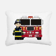 Fireman Pad1 Rectangular Canvas Pillow