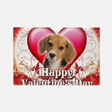 Happy Valentines Day Beagle Rectangle Magnet