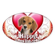 Happy Valentines Day Beagle Decal
