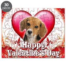 Happy Valentines Day Beagle Puzzle