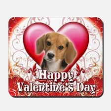 Happy Valentines Day Beagle Mousepad