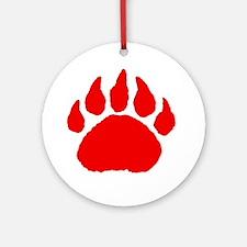 Bear Paw Round Ornament