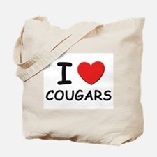I love cougars Tote Bag