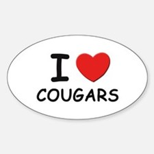 I love cougars Oval Decal