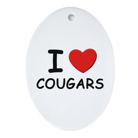 I love cougars Oval Ornament