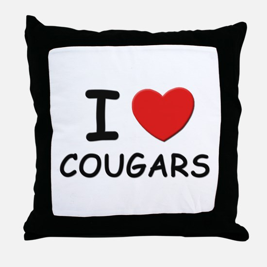 I love cougars Throw Pillow