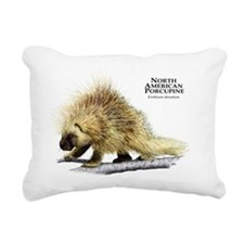 North American Porcupine Rectangular Canvas Pillow
