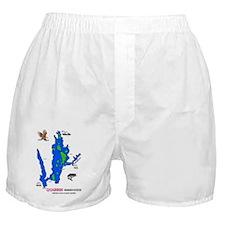 2-Quabbin Map -  BALD EAGLE - ENHANCE Boxer Shorts