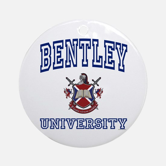 BENTLEY University Ornament (Round)