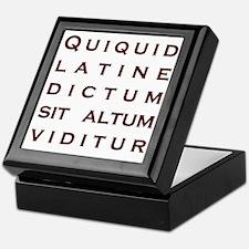 Anything sounds profound in Latin Keepsake Box