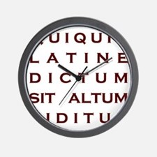 Anything sounds profound in Latin Wall Clock