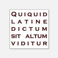 """Anything sounds profound in Square Sticker 3"""" x 3"""""""