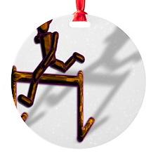 brown hurdler Ornament