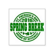 """SPRING Drink up 10_p01 Square Sticker 3"""" x 3"""""""