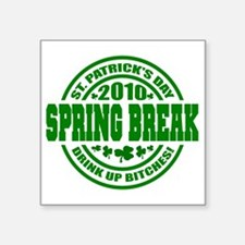 "SPRING Drink up 10_p01 Square Sticker 3"" x 3"""
