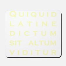 Anything sounds profound in Latin - Parc Mousepad