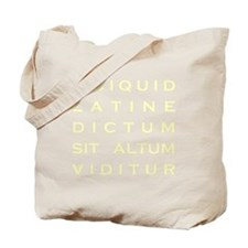 Anything sounds profound in Latin - Parch Tote Bag