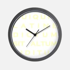 Anything sounds profound in Latin - Par Wall Clock