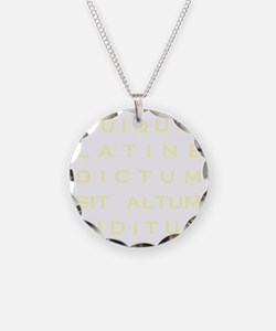 Anything sounds profound in  Necklace