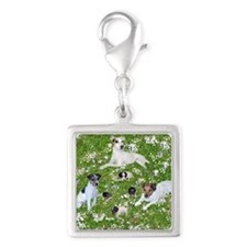 PUPPY PLAYTIME IN THE PARK BL Silver Square Charm