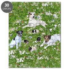 PUPPY PLAYTIME IN THE PARK BLANKET Puzzle