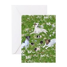 PUPPY PLAYTIME IN THE PARK BLANKET Greeting Card