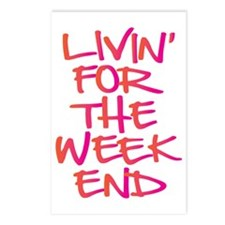 Livin For The Weekend Postcards (Package of 8)