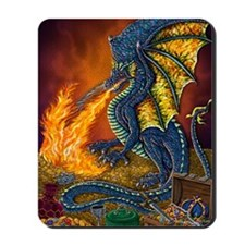 Dragons_Treasure_10x10 Mousepad