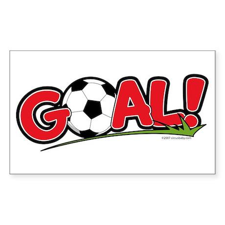 GOAL! Soccer Rectangle Sticker