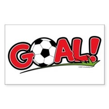 GOAL! Soccer Rectangle Stickers