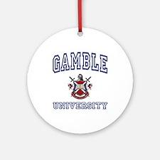 GAMBLE University Ornament (Round)