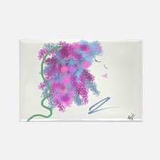 Flower Lilac Rectangle Magnet