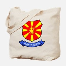 Macedonia Lion Crest Crown Badge Tote Bag