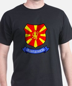 Macedonia Lion Crest Crown Badge T-Shirt