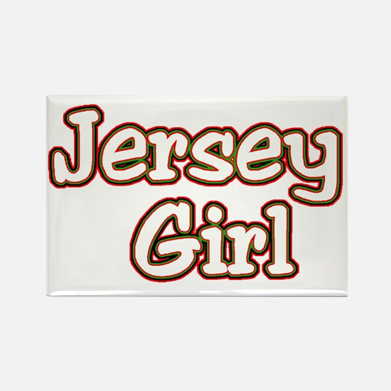 2-jersey girlD Rectangle Magnet