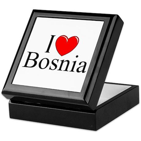 """I Love Bosnia"" Keepsake Box"