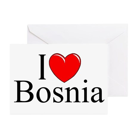 """I Love Bosnia"" Greeting Cards (Pk of 10)"