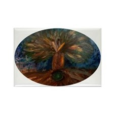 Tree of Life_oval Rectangle Magnet