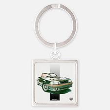 2-93silverbar Square Keychain