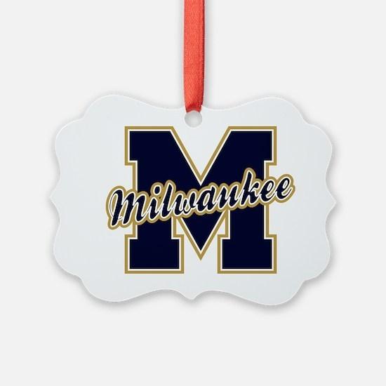 Milwaukee Letter Ornament