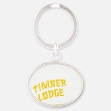 Timber Lodge Oval Keychain