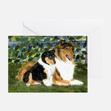 Rough Collie Mom Greeting Card
