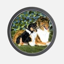 Rough Collie Mom Wall Clock
