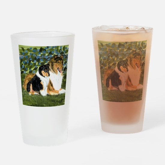 Rough Collie Mom Drinking Glass