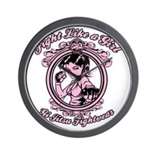 bjj fighter(girl) Wall Clock