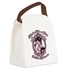 bjj fighter(girl) Canvas Lunch Bag